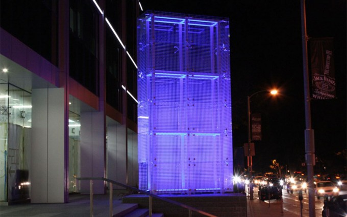 Blue Cube Sculpture